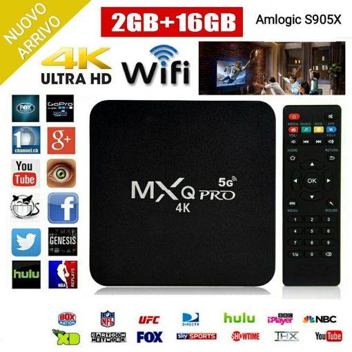 MXQ PRO 4K Box Android IPTV quad core 2+16GB Wi-Fi 5Ghz