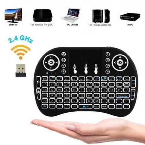 Mini tastiera QWERTY Android Wi-Fi compatibile con Box, TV e Windows
