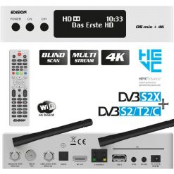 Edision OS MIO 4K Plus Combo DVB-S2X+S2 + DVB-T2/C Bianco