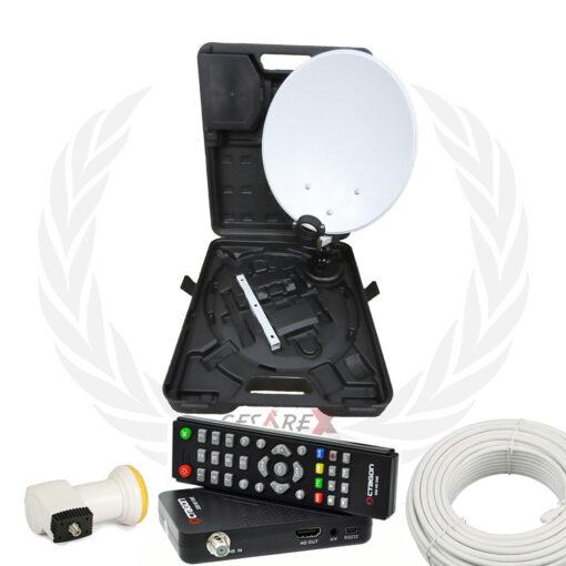 Kit parabola antenna da camping + decoder SAT multistream Octagon SX8