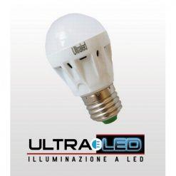 Lampadina a Bulbo 3W E27 LED Bianco Caldo milky cover